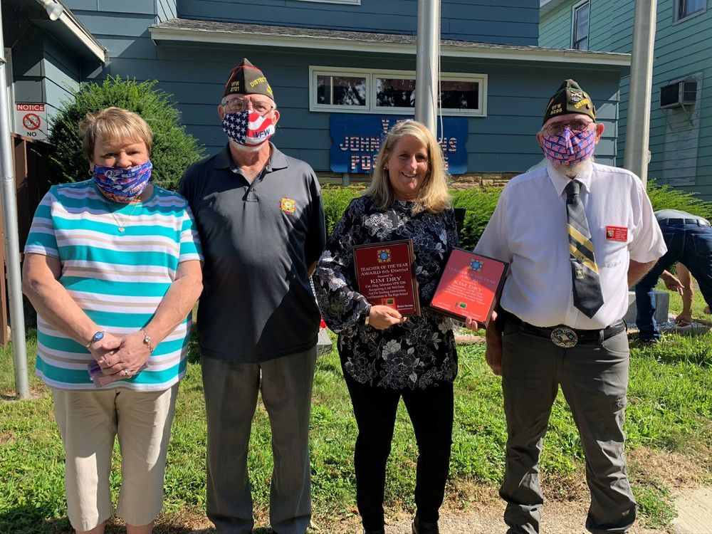 Salamanca Educator Honored by VFW as Teacher of the Year