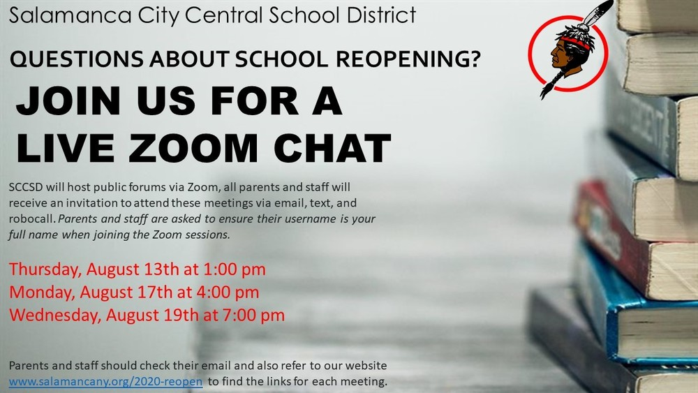 SCCSD to Host LIVE Zoom Chats