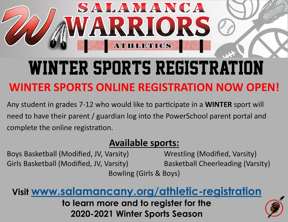 Winter Sports Registration Now Available