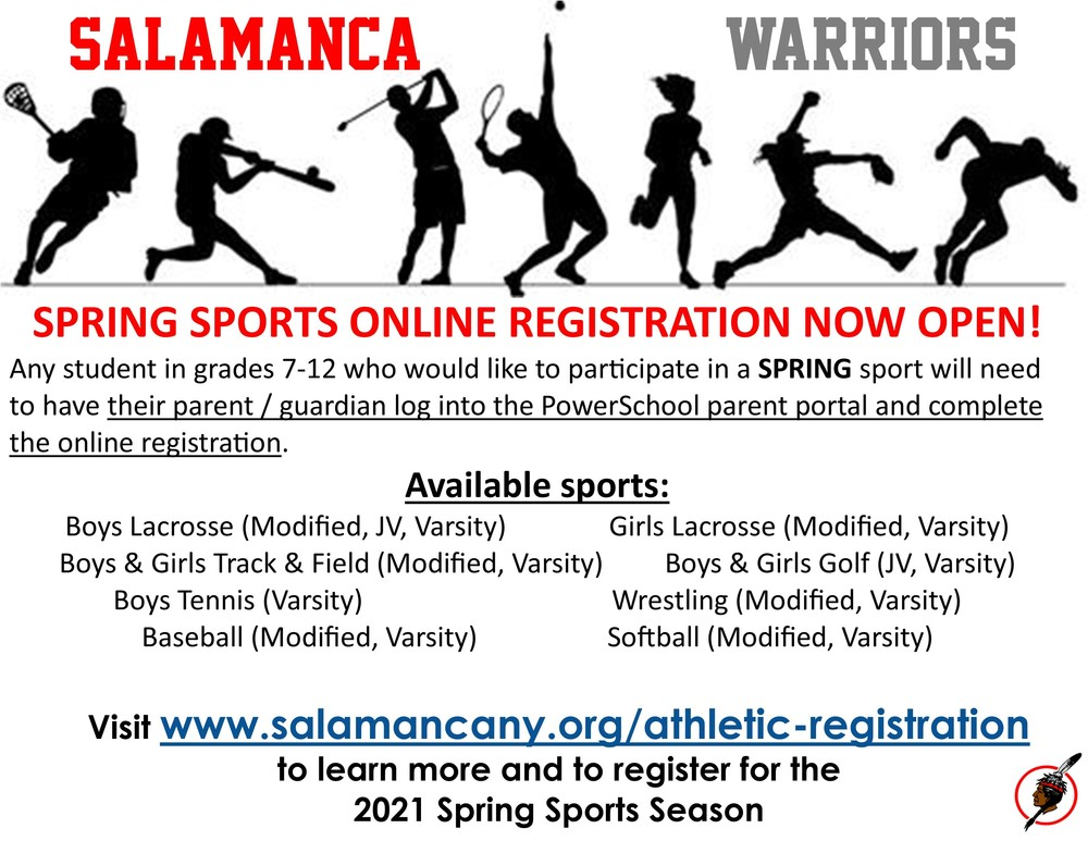 Spring Sports Registration Available