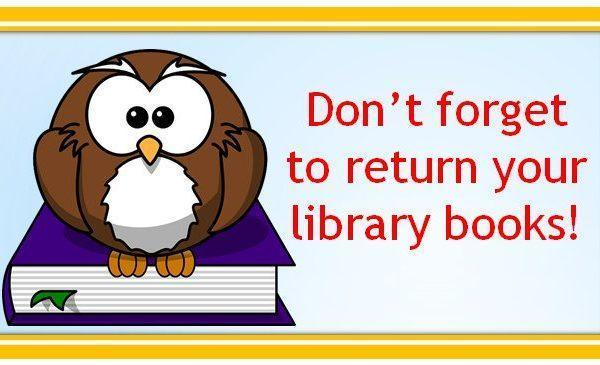Owl with books - Return your library books