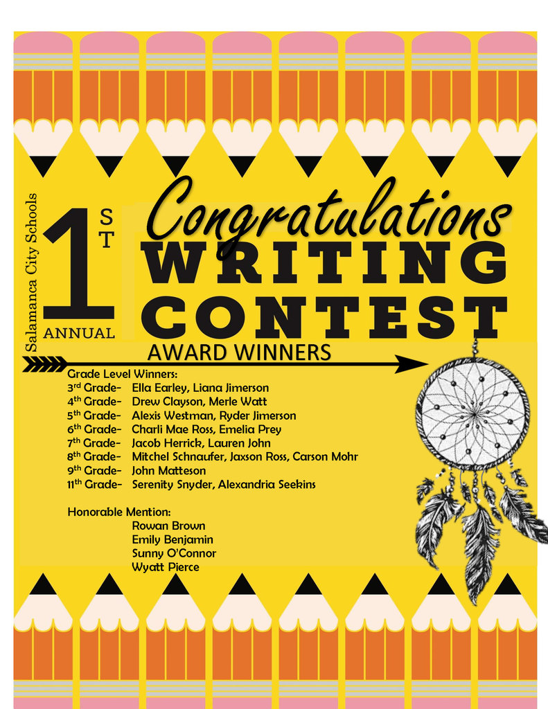 creative writing contest winners