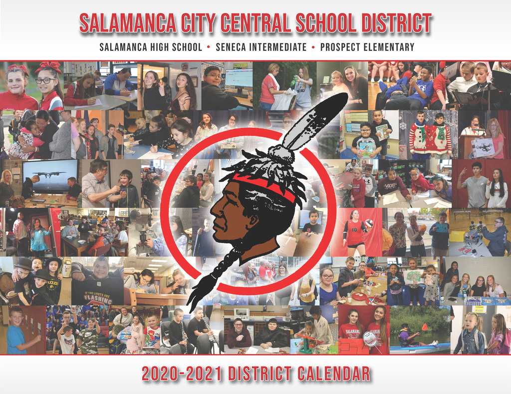 2020-2021 Multi-Page Calendar Cover with student photos
