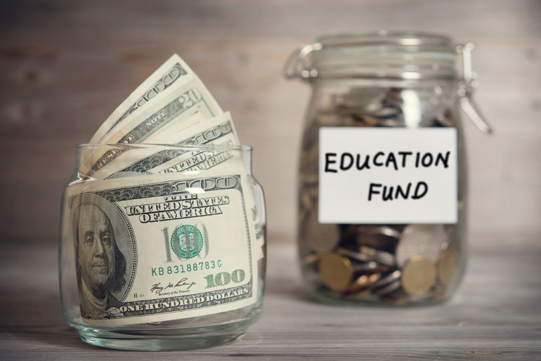 College Education Fund - money in bank